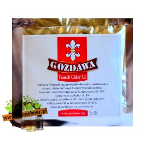 Drożdże do cydru Gozdawa French Cider G1 - 10g